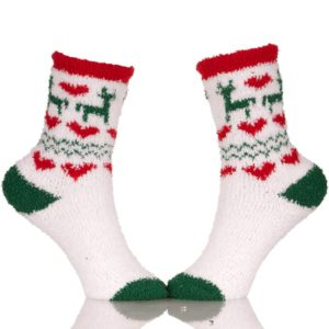 cute fuzzy christmas socks