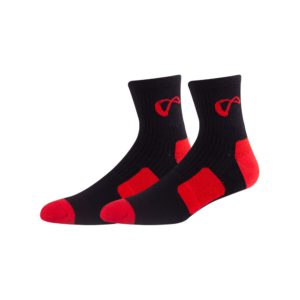 gym red workout socks with grip