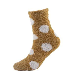 yellow warm fuzzy socks