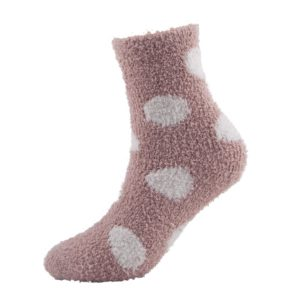 pink plush fuzzy socks
