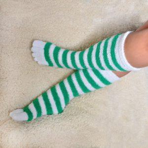 men cozy fuzzy toe socks